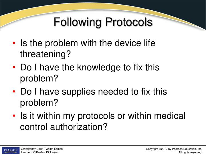 Following Protocols