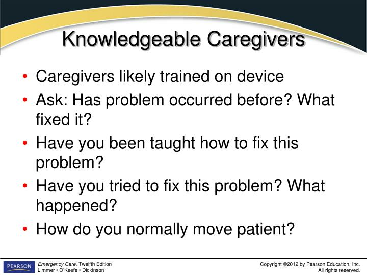 Knowledgeable Caregivers