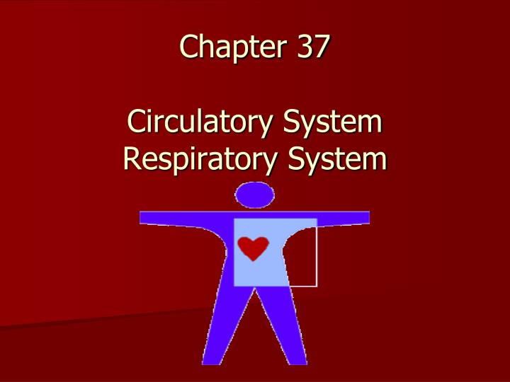 Chapter 37 circulatory system respiratory system