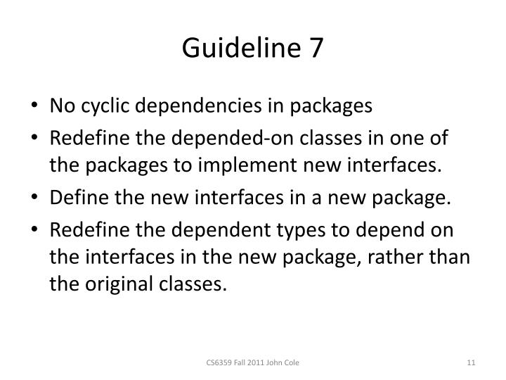 Guideline 7