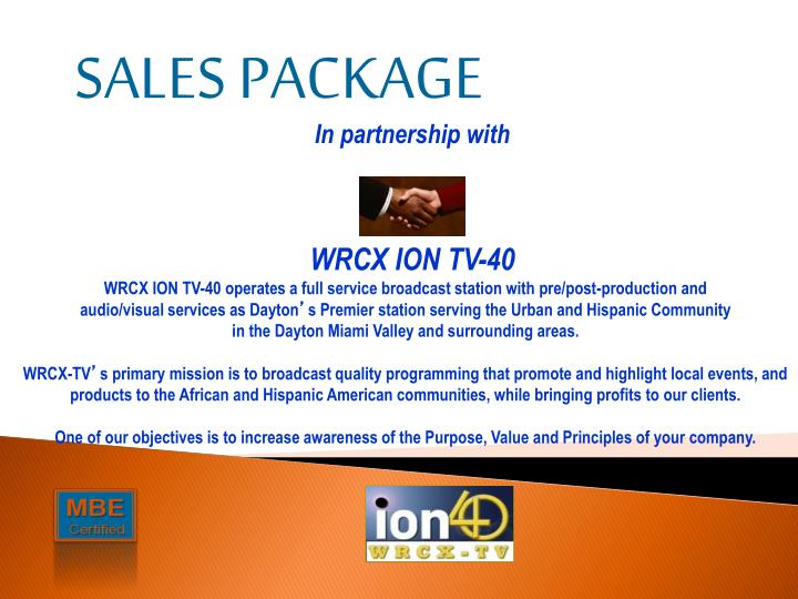 SALES PACKAGE