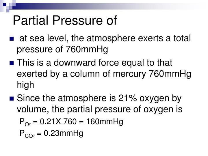 Partial Pressure of