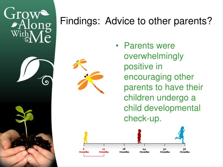 Parents were overwhelmingly positive in encouraging other parents to have their children undergo a child developmental check-up.