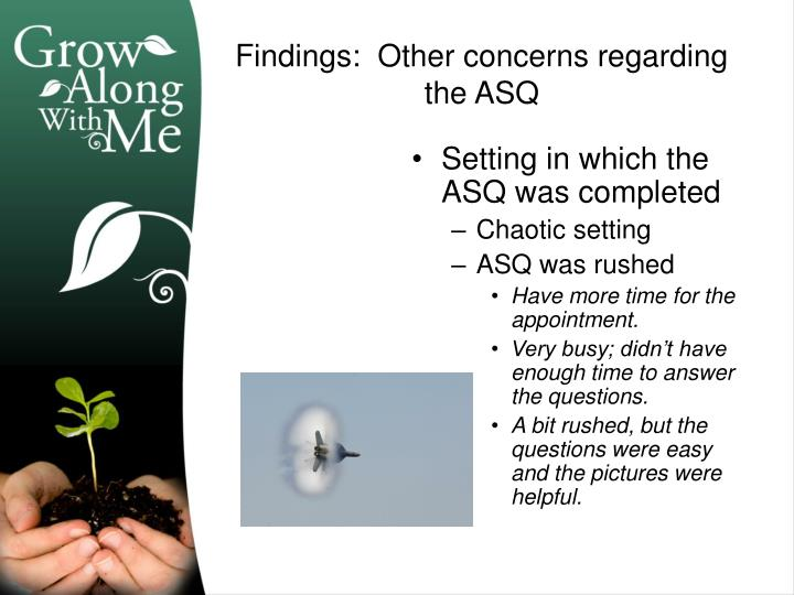 Setting in which the ASQ was completed
