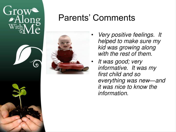 Very positive feelings.  It helped to make sure my kid was growing along with the rest of them.