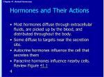 hormones and their actions1