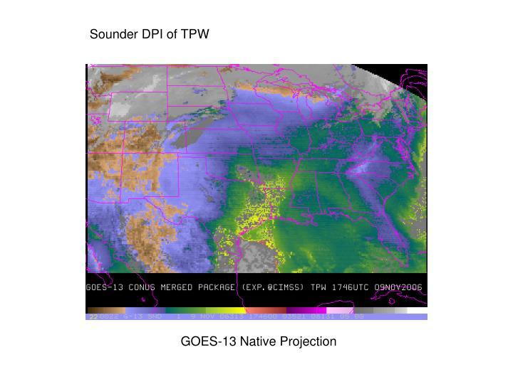 Sounder DPI of TPW