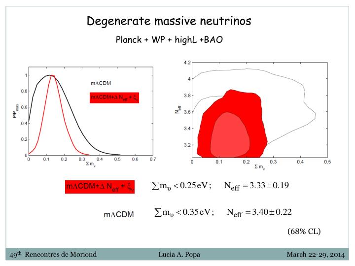 Degenerate massive neutrinos