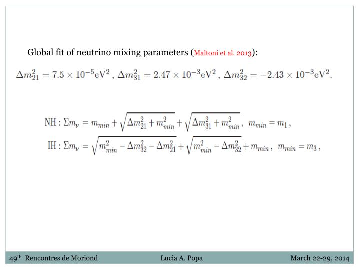 Global fit of neutrino mixing parameters (