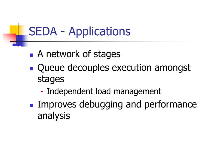 SEDA - Applications