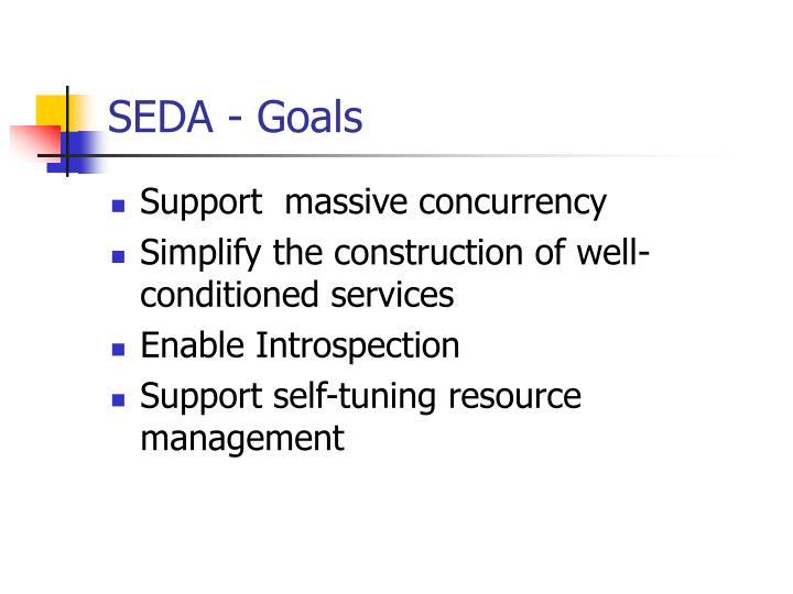 SEDA - Goals