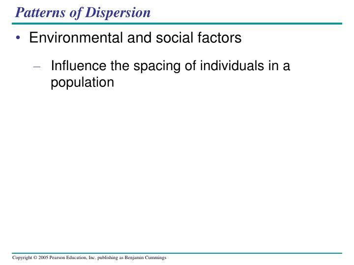 Patterns of Dispersion