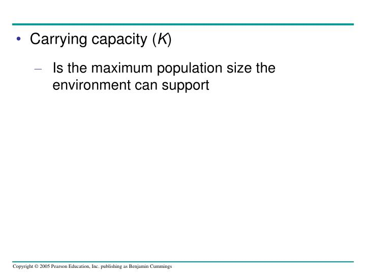 Carrying capacity (