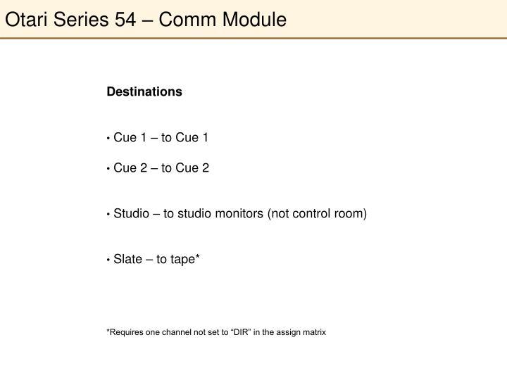 Otari Series 54 – Comm Module