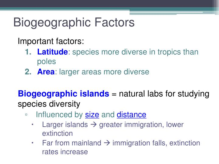 Biogeographic Factors