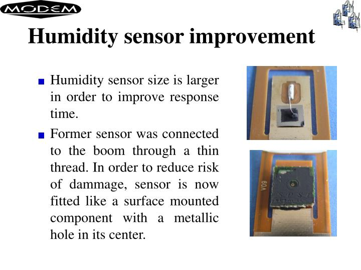 Humidity sensor improvement