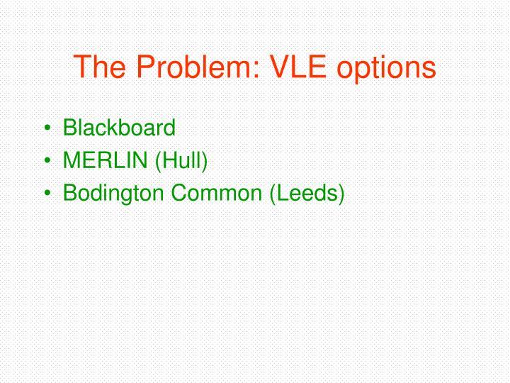 The Problem: VLE options