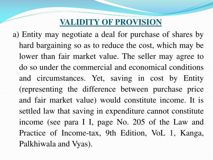 VALIDITY OF PROVISION