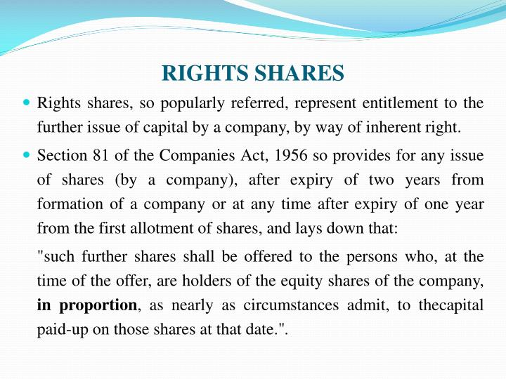 RIGHTS SHARES
