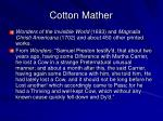 cotton mather