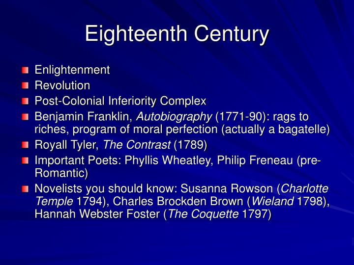 Eighteenth Century
