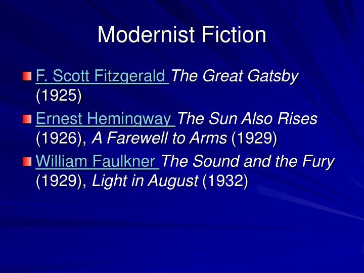 Modernist Fiction