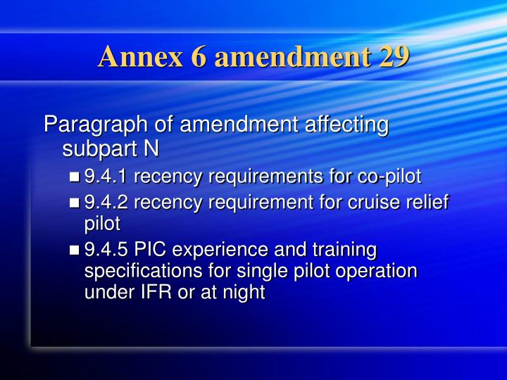Annex 6 amendment 29