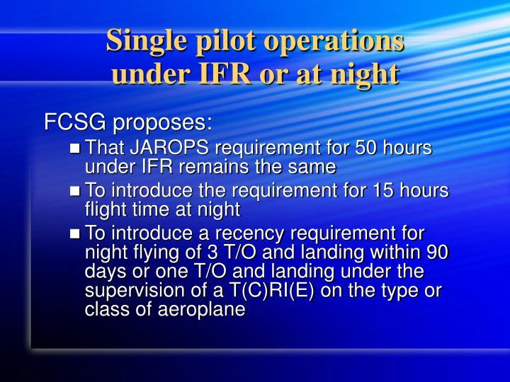Single pilot operations