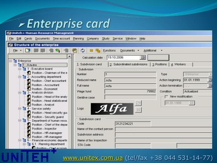 Enterprise card