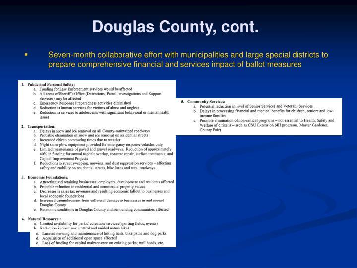 Douglas County, cont.