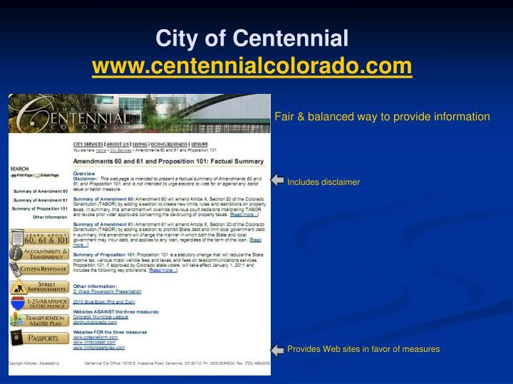 City of Centennial