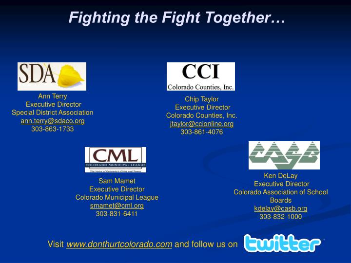Fighting the Fight Together…