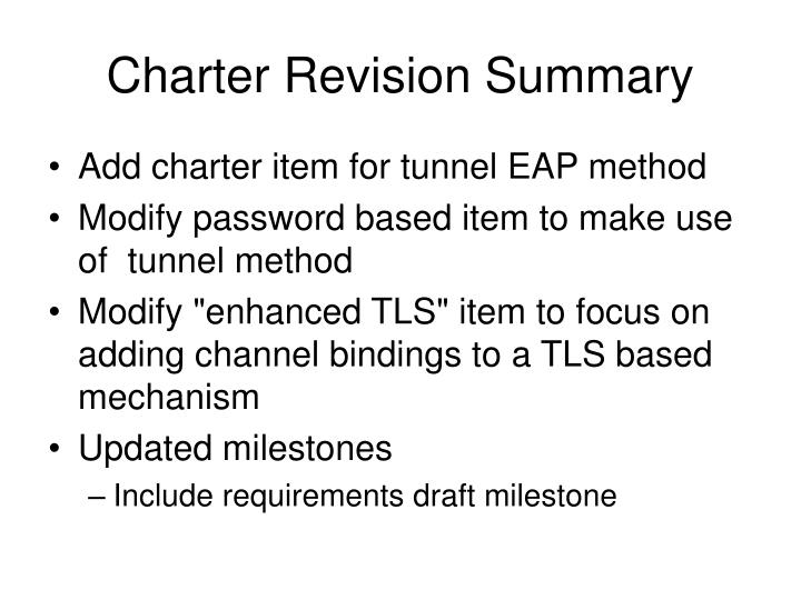 Charter Revision Summary