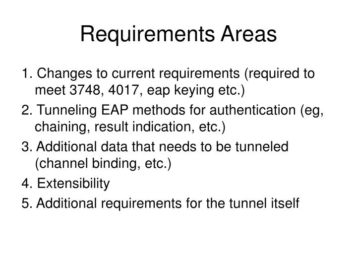 Requirements Areas