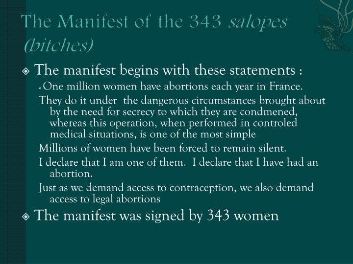 The Manifest of the 343
