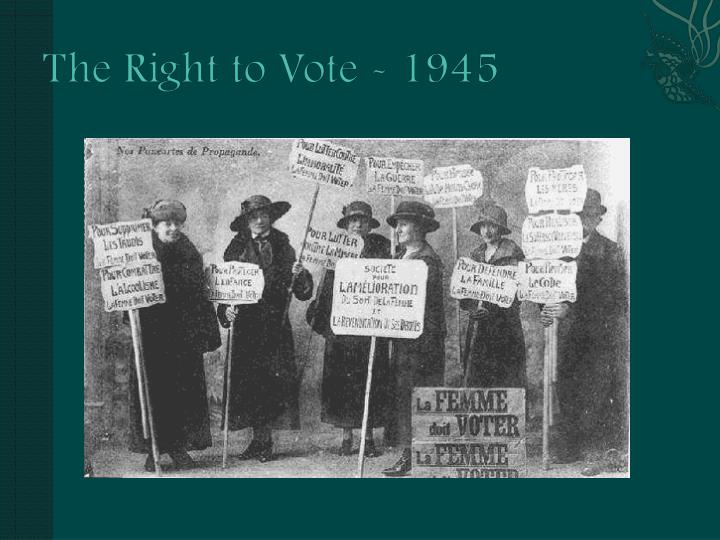 The Right to Vote -