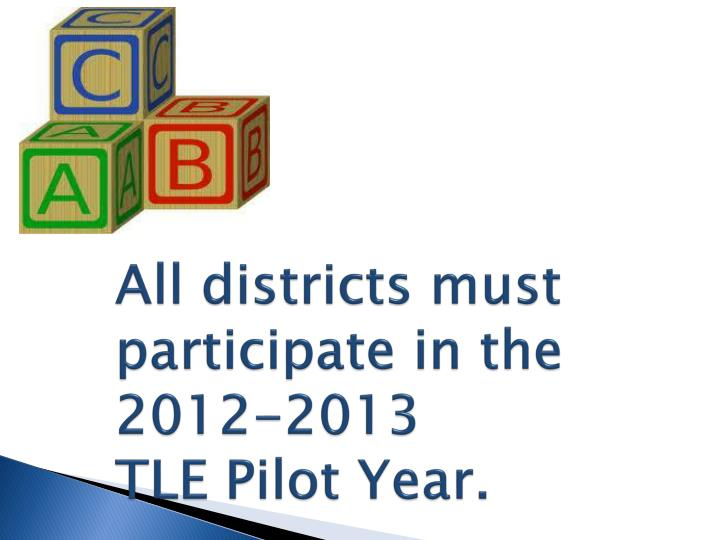 All districts must participate in the