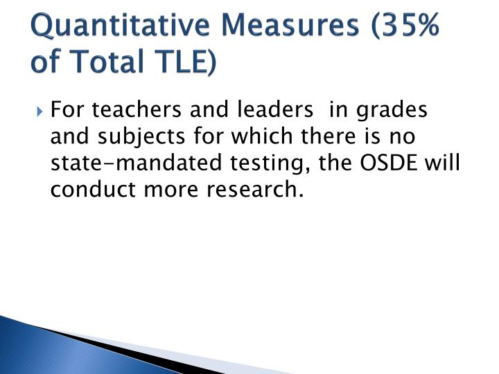 Quantitative Measures (35% of Total TLE)