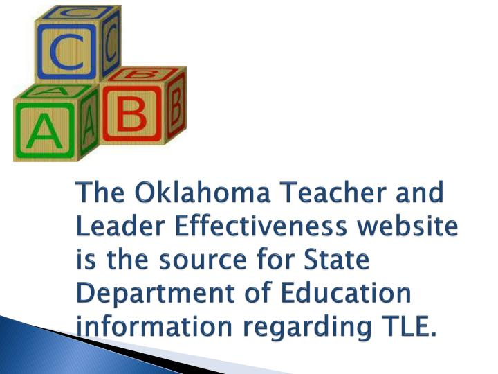 The Oklahoma Teacher and Leader Effectiveness website