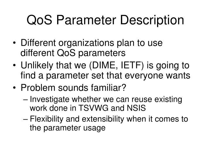 QoS Parameter Description