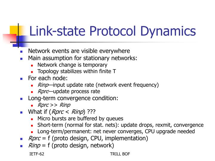 Link-state Protocol Dynamics