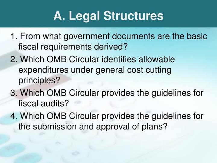 A. Legal Structures