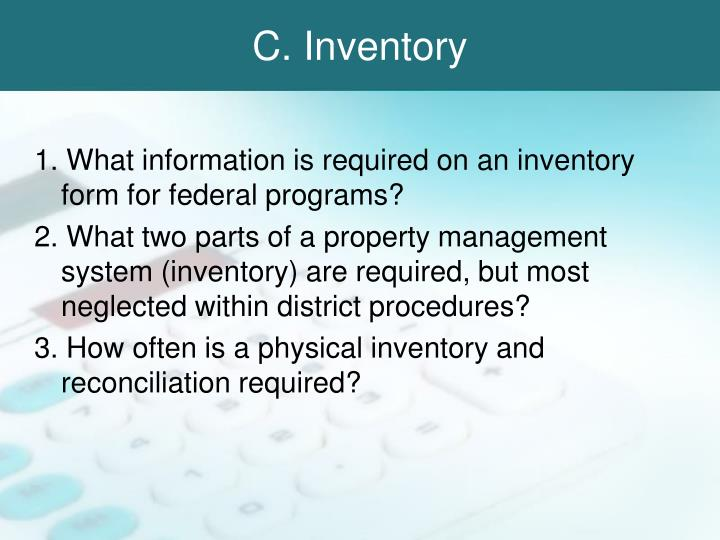C. Inventory