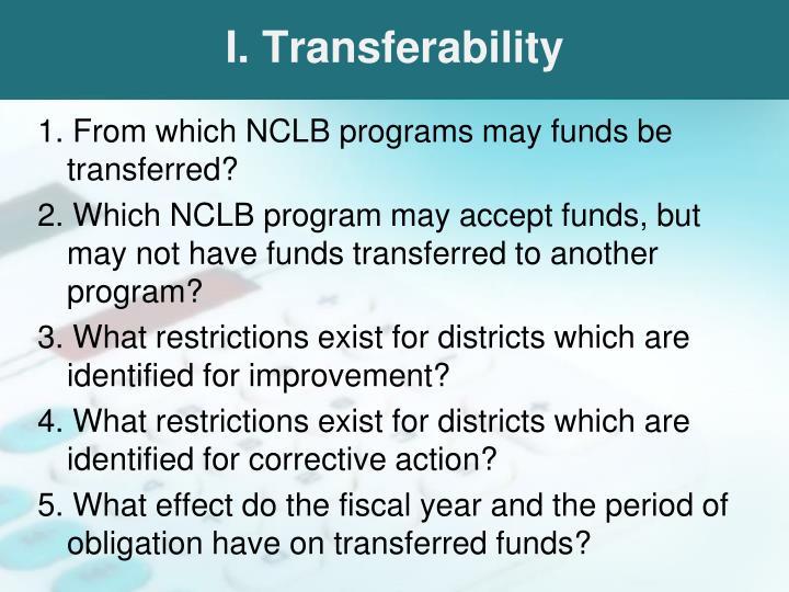 I. Transferability