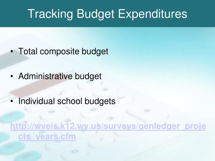 Tracking Budget Expenditures
