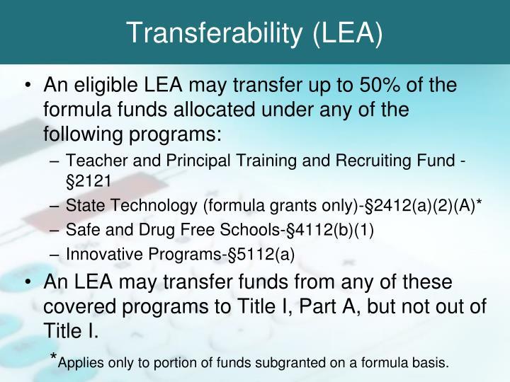 Transferability (LEA)