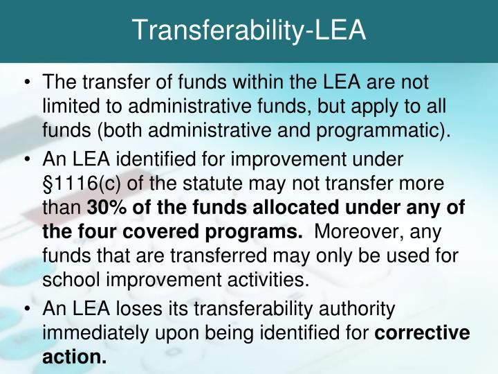 Transferability-LEA
