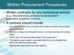 written procurement procedures2