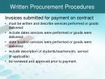 written procurement procedures3