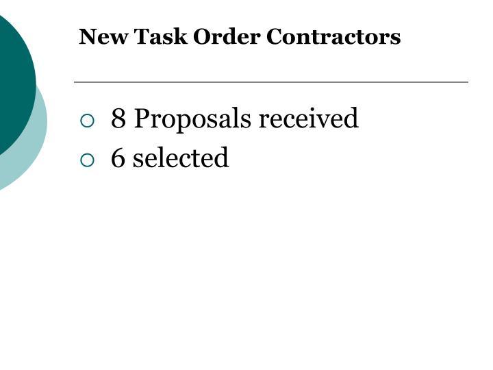 New Task Order Contractors